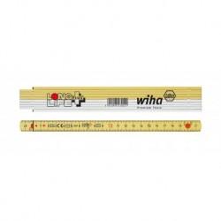 WIHA 27055 Skládací metr Longlife Plus 2m – žlutý