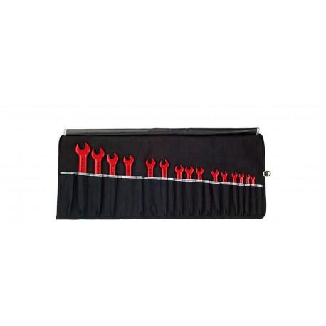 WIHA 33179 Sada jednostranných otevřených klíčů s izolací, 15 dílů
