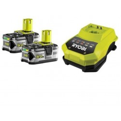 RYOBI ONE+ set RBC18LL50 2x baterie 18V / 5,0 Ah Li-Ion + nabíječka