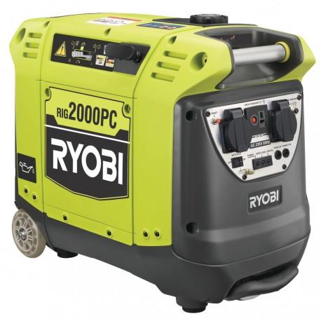 RYOBI RiG2000PC Generátor s měničem 2000 W / 12V nabíječka do auta