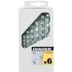 DIAGER válcová stopka sada 257C - 6ks Standard 265