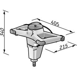 FLEX MXE 1000 + WR2 120 1-rychlostní míchadlo s regulací ve spínači 1010 Wattů