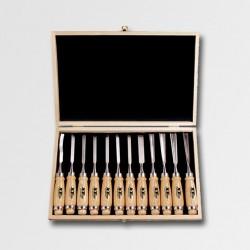 XTline Dláta řezbářská 12ks, dřevěný obal