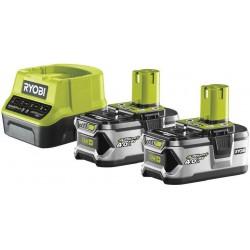 RYOBI Set akumulátor + nabíječka RC18120-240, 18V, 2x 4,0Ah