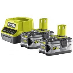 RYOBI Set akumulátor + nabíječka RC18120-250, 18V, 2x 5,0Ah