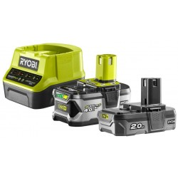 RYOBI Set akumulátor + nabíječka RC18120-242, 18V, 1x 4,0Ah, 1x 2,0Ah