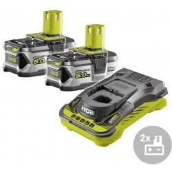 RYOBI Set akumulátor + nabíječka RC18150-250, 18V, 2x 5,0Ah