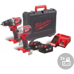 MILWAUKEE Aku kompaktní bezuhlíkový powerpack M18 CBLPP2B-402C, 18V