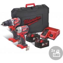 MILWAUKEE Aku kompaktní bezuhlíkový powerpack M18 CBLPP2B-502C, 18V