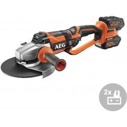 AEG Aku úhlová bruska BEWS 18-230BL LI-602C, bezuhlíková, 18V, 230mm