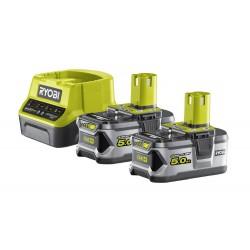 RYOBI ONE+ set RC18120-250 2x baterie 18V / 5,0 Ah Li-Ion + nabíječka