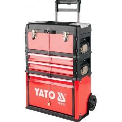 YATO Vozík na nářadí 3 sekce, 2 zásuvky, YT-09101