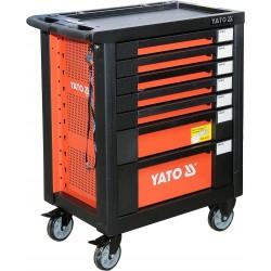 YATO Skříňka dílenská pojízdná s nářadím (211ks) 7 zásuvek YT-55290