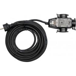 YATO Prodlužovací kabel s gumovou izolací 20m -3zásuvky YT-81162