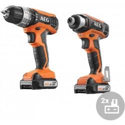 AEG Aku tradesman kit JP12HLI-202B, 12V