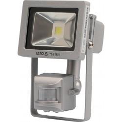 YATO Reflektor s vysoce svítivou COB LED, 10W, 700lm, IP44, pohyb. senzor YT-81801