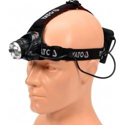 YATO Svítilna čelovka LED XM-L2 CREE 10W, 450 lm YT-08591