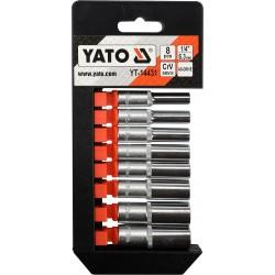 """YATO Sada nástavců 1/4"""" šetihranné 8ks 5,5-13 mm YT-14431"""