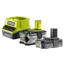 RYOBI ONE+ set RC18120-242 1x baterie 18V / 2,0 + 4,0 Ah Li-Ion + nabíječka