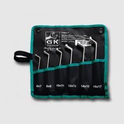 GK TOOLS Sada očkových klíčů 6-17 mm 6 dílů chrom-obal