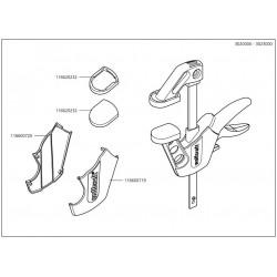Wolfcraft Náhradní díl Ochranný kryt pro jednou rukou svorkou 3447-3451 + 3020000 - 3023000 pro Wolfcraft EHZ75-150 EASY svěrka