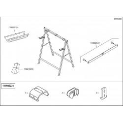 Wolfcraft Náhradní díl Materiál rack 6905 pro Workstand – opěrný kozlík Wolfcraft 6905000