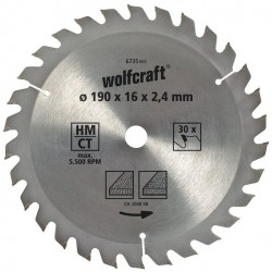 Wolfcraft Wolfcraft pilový kotouč hrubé řezy ø130x16 Z18 6730000