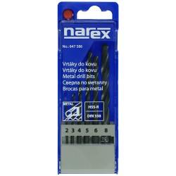 NAREX 6-SET METAL HSS - Sada vrtáků do kovu HSS-R