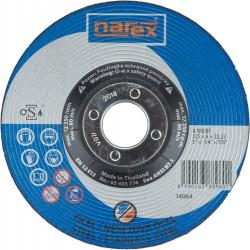 NAREX 125×6×22.2 A 30 BF - Brusný kotouč na ocel vypouklý